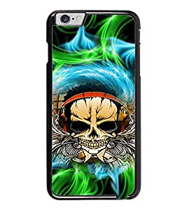 PrintDhaba Skull D-2942 Back Case Cover for APPLE IPHONE 6 (Multi-Coloured)