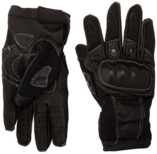 First Manufacturing Leather Racing Gloves (Black, Small)