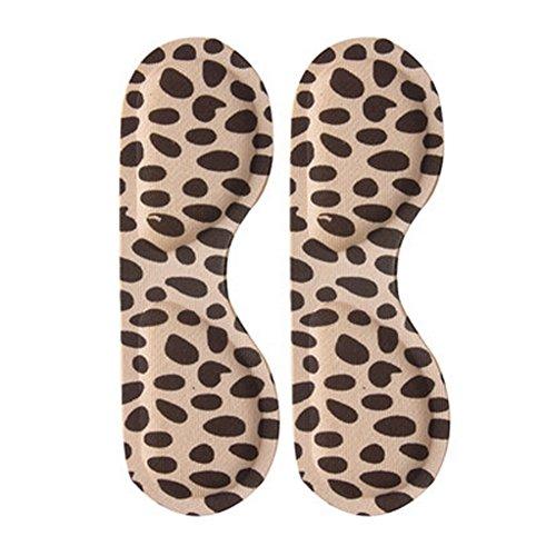 4 Paar Fersenkissen Gepolsterte Ferse Griffe Pflege Heel Snugs Heel Leopard (D) (Leopard D&g)