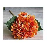 IHRKleid Kunstblumen Blumen Künstliche Hortensie Blumen Dekoration Künstliche Hydrangeablume Hochzeit Dekor Blumenstrauß (Orange)