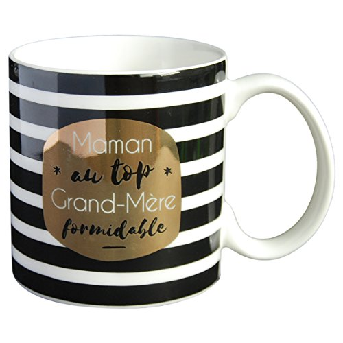 LA CARTERIE Mug cadeau à message  Maman au top, Grand-Mère...