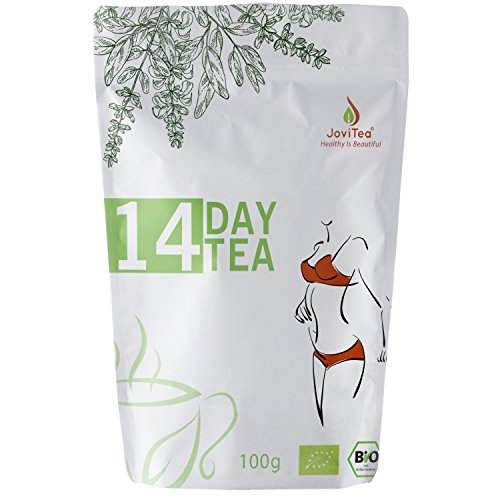 Reinigende Diät-detox (JoviTea 14 DAY TEA BIO Tee + 14-Tage Body Tee 50 Portionen + 100% natürlich und zuckerfrei + Leckere Kräuter- und Fruchtmischung + 100g)
