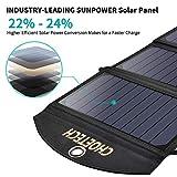 Handy Solar Ladegerät CHOETECH 19W 2-Port USB Wasserschutze Solarpanel Tragbar&Faltbar für iPhone 6S/ 6/6 Plus, Galaxy S7/S7 Edge/S6/S6 Edge, iPad, LG G4 und 5V Mobile Geräte - 2