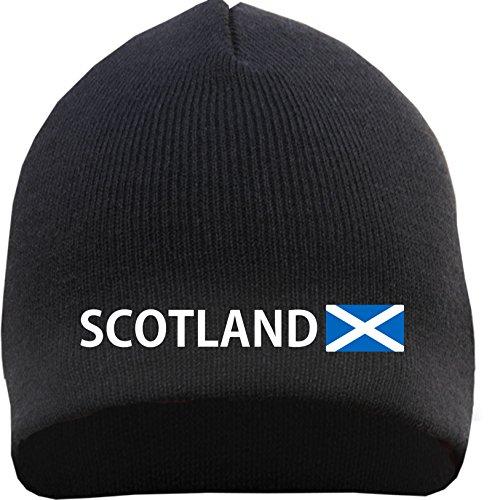 SCOTLAND Beanie - bestickt - Einheitsgröße Schwarz