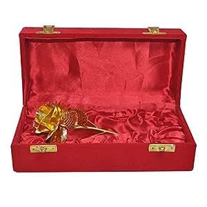 Dungri India Artigianato ® 24k oro rosa Foil Fiori 7 pollici e Handcrafted scorso sempre con Gift Box - Miglior regalo per il giorno di San Valentino, Festa della Mamma, Natale, compleanno