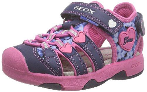 Geox Baby Girls' B Sandal Multy Girl Walking Baby Shoes Blue Size: 5 Child UK