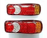 Paar 12 V RECOVERY LED hinten Rücklicht 40 LED für Wohnmobil Truck Trailer LKW Chassis Kippmulde LKW Caravan 5 Funktionen universell einsetzbar