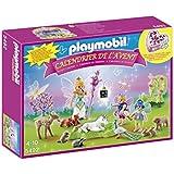 Playmobil - 5492 - Calendrier De L'avent Exclusif- Fées Avec Licorne Et Animaux De La Forêt Collector