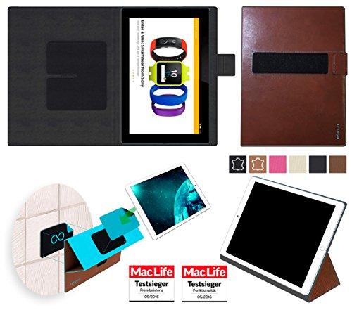 reboon Hülle für Sony Xperia Z4 Tablet Tasche Cover Case Bumper | in Braun Leder | Testsieger