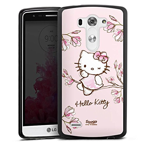 LG G3 Silikon Hülle Case Schutzhülle Hello Kitty Merchandise Fanartikel Magnolia (Hello Kitty Cases Für Lg G3)