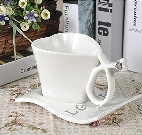 SU @ DA Amour/Mug en céramique/couvercle/cuillère/Coeurs/couple/mugs/tasses à café/cœur/Mug/tasse 3