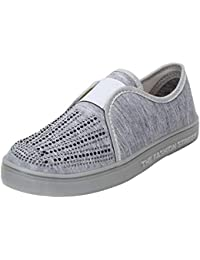 996f1f51878 AUTHENTIC VOGUE Women s Fashionable Trendy Casual Sneakers Shoe Slip On-  Grey Colour