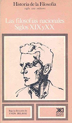 Las filosofías nacionales. Siglos XIX y XX. Vol. 9