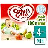 Vache Et Porte Pomme Et Poire Fruits Pots 4 X 100G - Paquet de 4