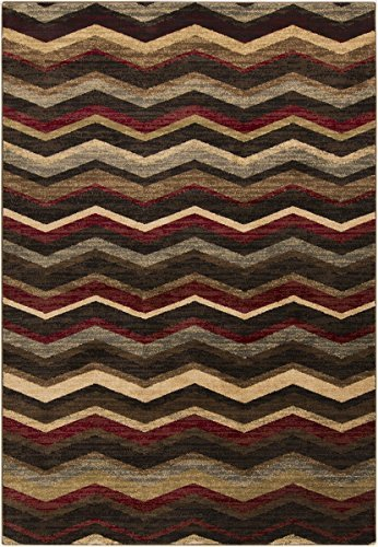 Surya RLY5064-233 Machine Made Geometric Accent Rug, 2 by 3-Feet 3-Inch, Burgundy/Black/Tan/Butter/Olive by Surya (Olive Surya)