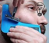 Ducomi - Sharper Image–Peigne Barbe, conçu pour tailler la barbe, adapté pour tenir en ordre la barbe.