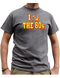 Nutees I Love 80's Fancy Dress Costume Party Funny Mens T Shirt - Charcoal Grey