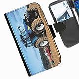 Hairyworm- Traktoren Seiten Leder-Schützhülle für das Handy Blackberry Passport