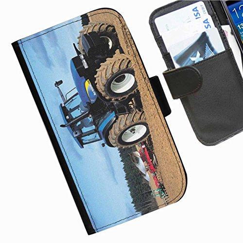 Hairyworm- Traktoren Seiten Leder-Schützhülle für das Handy Samsung Galaxy S3 Mini (I8190, I8190N) (Samsung S3 Mini Handy-fällen)