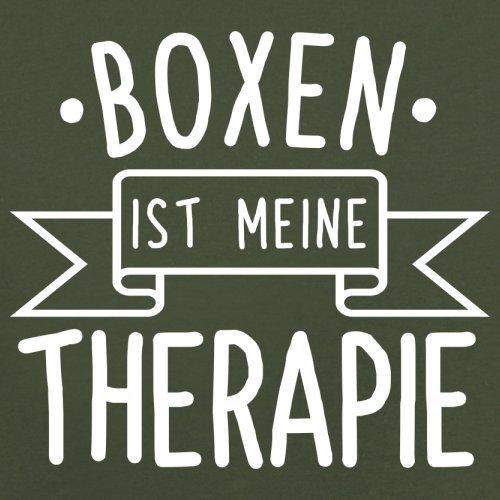 Boxen ist meine Therapie - Herren T-Shirt - 13 Farben Olivgrün