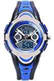 FORESEEX FSX-212G Sports Analog Digital Dual Time Water Resistant Wrist Watches for Kids Children Boys Girls with Back Light, Alarm, Stopwatch, Chronograph, Chime, Calendar, Date and Day, 12/24 Hours
