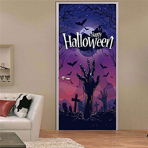 XIAOXINYUAN 3D Tür Aufkleber Halloween Zombie Hand Wallpaper Abnehmbare DIY Selbstklebende Wandbilder Für Wand Aufkleber Home Tür Einrichtung (Halloween Zombies Wallpaper)