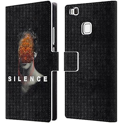 Ufficiale Frank Moth Silenzio Ritratto Cover a portafoglio in pelle per Huawei P9 lite / G9 Lite