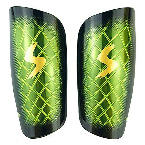 cococity Fußball Schienbeinschoner Erwachsene Schienbeinschützer umfassenden Schutz für die Beine PP EVA Grün