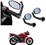 #6: AutoSun Bar End Mirror Rear View Mirror Oval For TVS Apache RTR 160