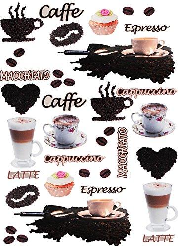 Unbekannt 38 TLG. Set _ XL Fensterbilder -  Kaffee / Espresso - Latte & Cappuccino  - Sticker...