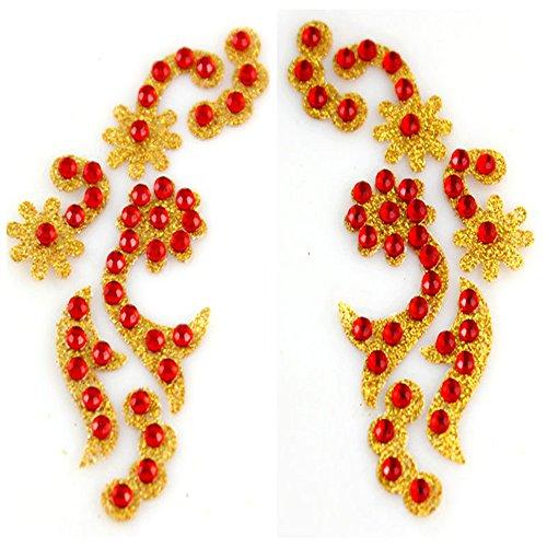 'Spritech (TM) impermeabile occhi con cristalli Swarovski per tatuaggi temporanei tatuaggio temporaneo Body Art per Feste, Festival Vacanze matrimoni