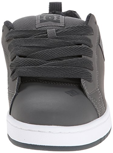 DC Shoes Court Graffik, Chaussures de skate homme Multicolore (Grey/Grey/White)