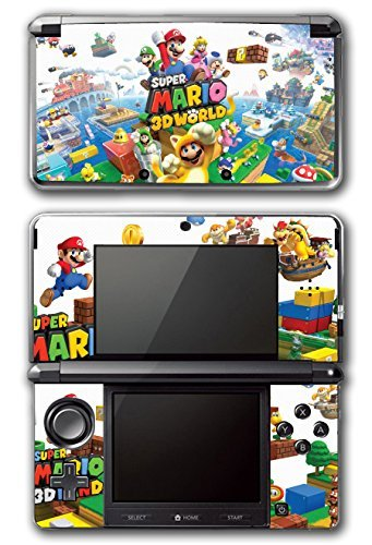 Super Mario 3D World 2 Land Mario Luigi Peach Toad Cat Suit Video Game Vinyl Decal Skin Sticker Cover for Original Nintendo 3DS System by Vinyl Skin Designs