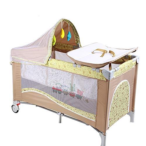 BCB Tragbares Babyreisebett, 2 in 1 Design Kinderbett & Activity Play Center,Faltbarer Rahmen mit Matratze, Aufbewahrungstasche, Tragetasche, Green (Kinderbett Activity Center)