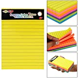 #8: Hengjie Self-Stick Sticky Note Pad, Ruled, Neon Colors, 6 X 4 inch, 100 Sheets