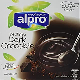 Alpro Dark Chocolate Dessert 4 x 125 g (Pack of 6)