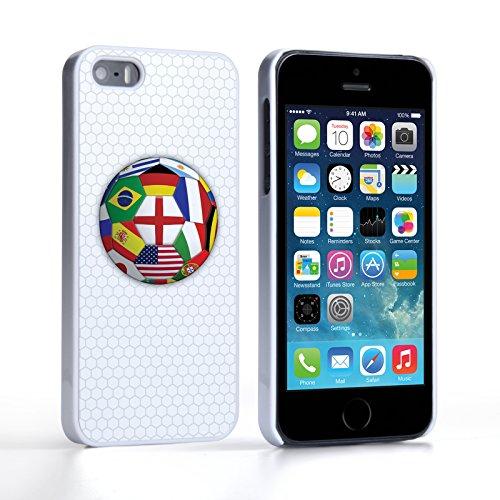Caseflex Coque iPhone 5 / 5S Drapeaux Coupe du Monde Dur Housse