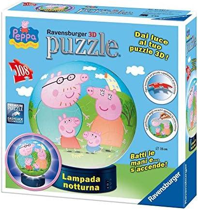 Ravensburger 12247 Peppa Pig – Puzzle 3d et lampe 2 en 1   New Style