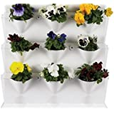 Orto verticale pensile Minigarden 64x14xh57 cm vaso giardino bianco