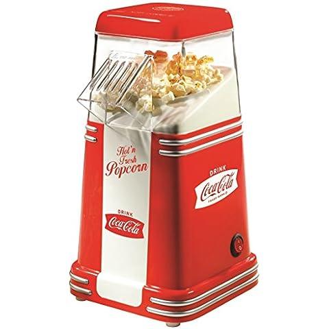 Simeo CC120Coca-Cola cafetera Pop Corn rojo/blanco 1100W