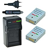 ChiliPower Nikon EN-EL24 Kit: 2x Batterie (900mAh) + Chargeur pour Nikon 1 J5