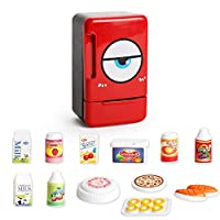 Spritumn Cute Red Home Appliances Kitchen Toy Set, Baby Kid Developmental Educational Pretend Play Assorted Home Kitchen Appliance Toys