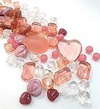50g Boehmisches Glasperlen Rosa Pink Mix PRECIOSA TSCHECHISCHE Kristall Perlen Set, Basteln Schmuck set 8mm - 15mm R226