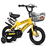 12' 14' 16' 18' Bicicleta Infantil niño y niña   12 14 16 18 Pulgadas   A Partir de 3 años   V-Brake y Freno de contrapedal   Modelo BMX 2019,Yellow,16IN