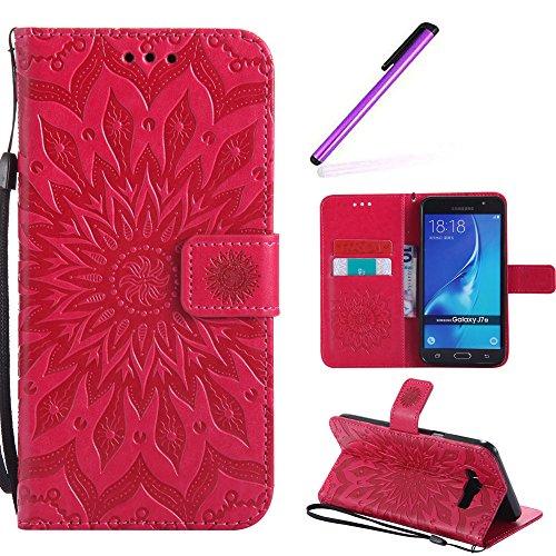 d4adfaf195b HMTECH Galaxy J7 2016 Flip Leather Case Wallet Cierre de Billetera con Tapa  para Tarjetas con