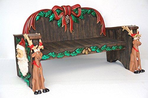 Walt-Deko Banc de Noël en Fibre de Verre Haut de Gamme en Fibre de Verre de Haute qualité (GFK)