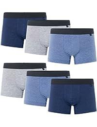 MioRalini 6 PREISWERTE und weiche Baumwoll & Elastan Boxershort - bedruckt und einfarbig viele Farben - Grössen von S bis 4XL - Retropants RetroshortS