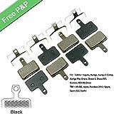 Pastillas de freno de disco de bicicleta para TRP HY/RD, Hylex, Parabox 2012, Spyre, Spyre SLC, Spyke Disc Brake, 4 pares de resina negra