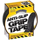 ANTI SLIP GRIP TAPE INDOOR OUTDOOR 25MM x 4M ADHESIVE ABRASIVE GRIT by Unknown