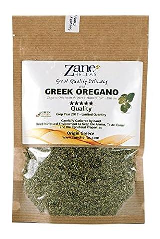 Zane Hellas Organic Culinary Greek Wild Dried Oregano Herb Leaves 2.80 oz. - 80 gr. Crop 2017. Limited Quantity